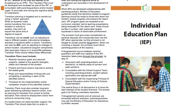 An Individual Education Plan