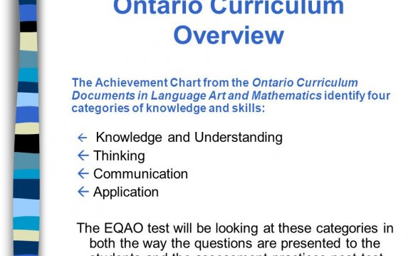 Ontario Curriculum Documents