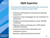 International Credential Assessment