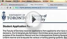Dentistry - Student Admissions Form Beta Test