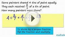 Division of a Whole Number by a Proper Fraction