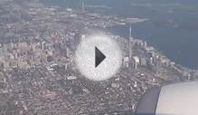Downtown Toronto and Toronto City Airport from High in the Sky