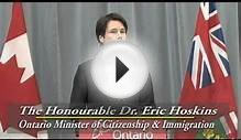 Dr. Eric Hoskins at the Toronto Catholic District School