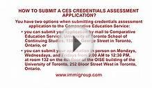How to submit a CES credentials assessment application?