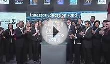 Investor Education Fund opens Toronto Stock Exchange