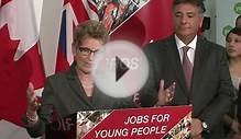 Premier of Ontario, Kathleen Wynne, announces new Strategy