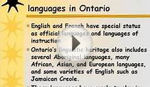 Teaching and Learning in Multilingual Ontario