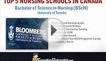The Best Nursing Schools in Canada - University of Toronto