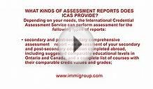 What kinds of assessment reports does ICAS provide?